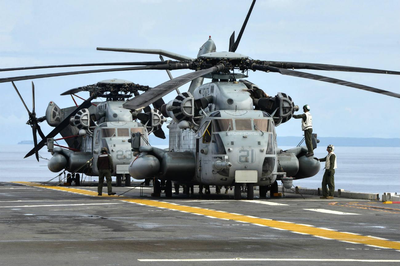 Ch-53 Sea stallion Folding up
