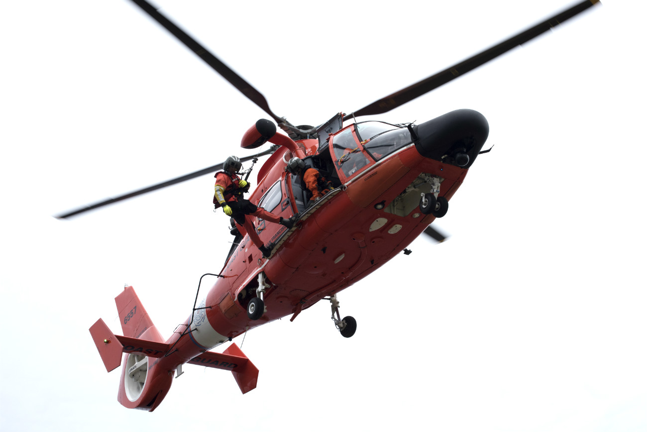 Coast guard Dolphin helicopter rescue