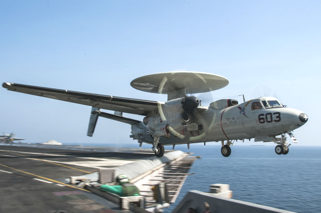 E-2 Hawkeye takes off