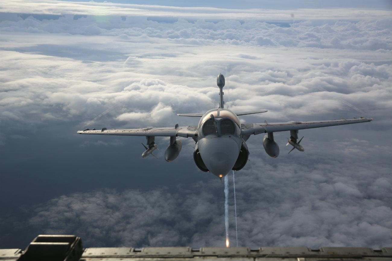 EA-6b Aircraft front