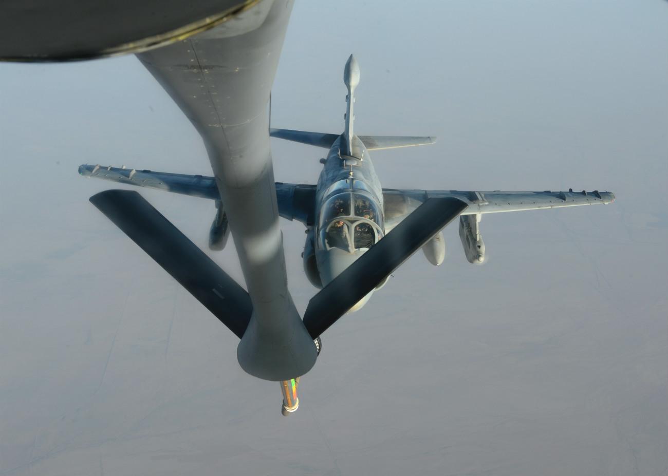 EA-6b Prowler refuels