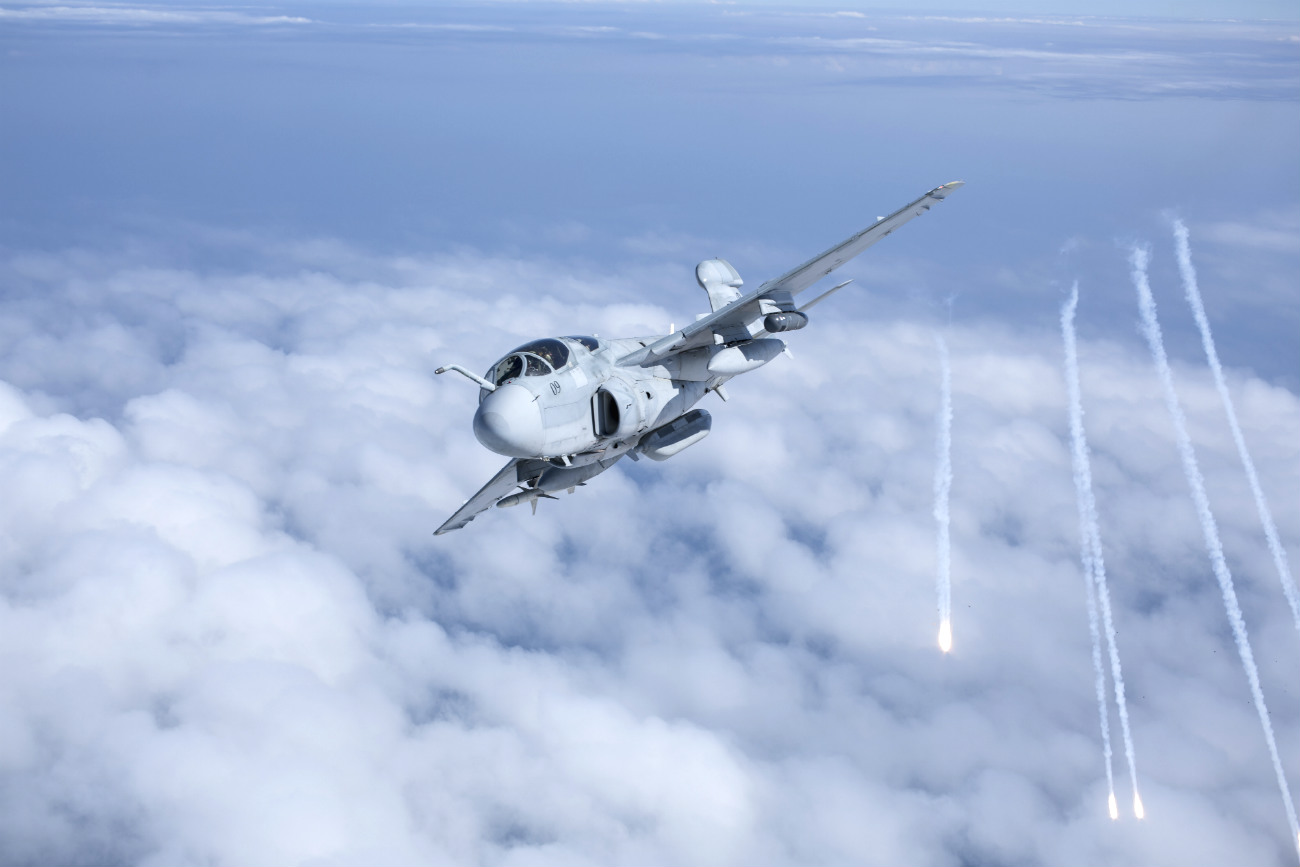 EA-6b fires rounds