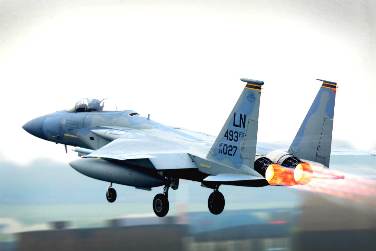 F-15 Eagle afterburners