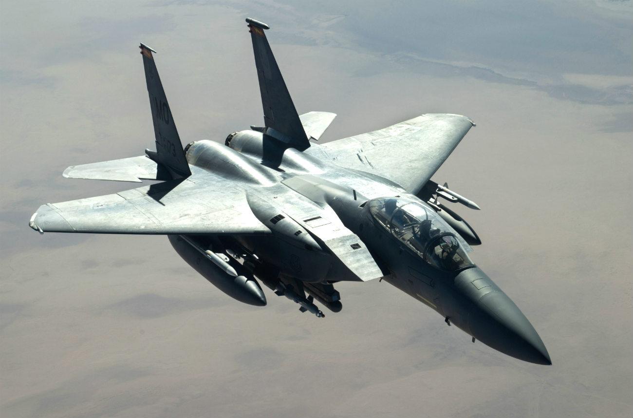 F-15 Eagle aircraft in air