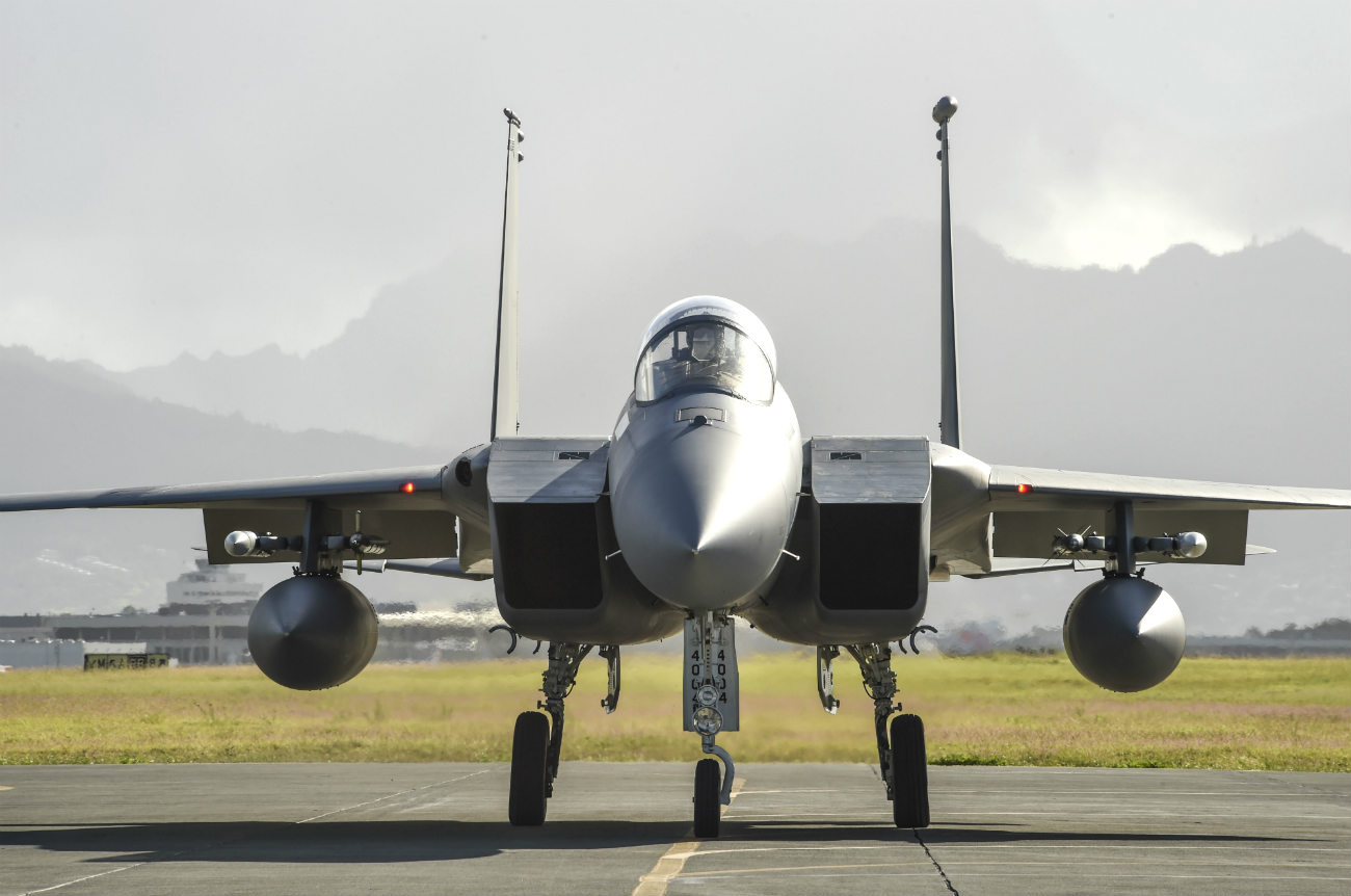 F-15 Eagle Images parked