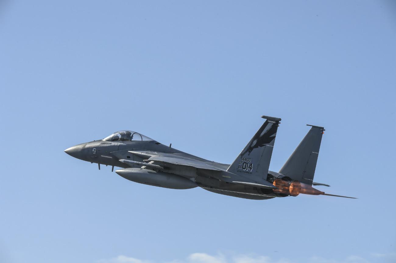 F-15 jet Afterburner