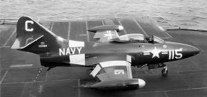 F9F Panther Aircraft Carrier Flight Deck