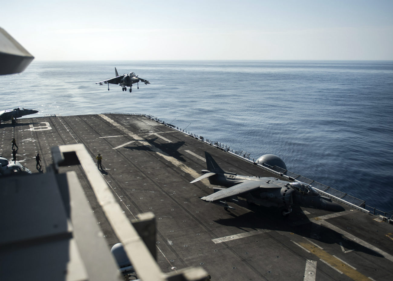 Harrier Aircraft on carrier