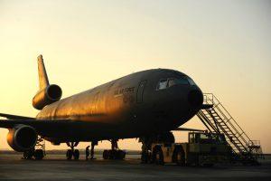 KC-10 Extender sunset