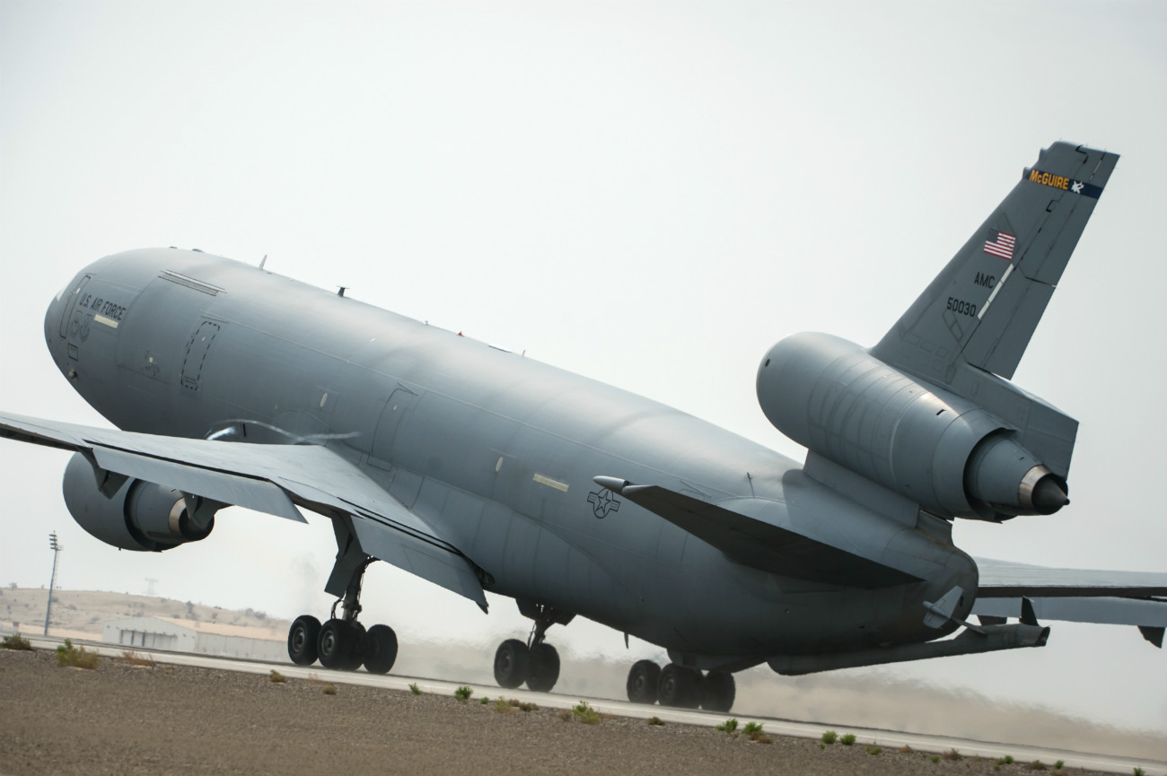 KC-10 Extender takes off