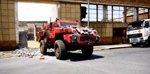 Marauder Vehicle Smashes Through Rubble