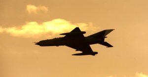 MiG-21 in flight