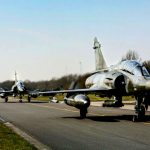 Panavia Tornados Taxi on Runway