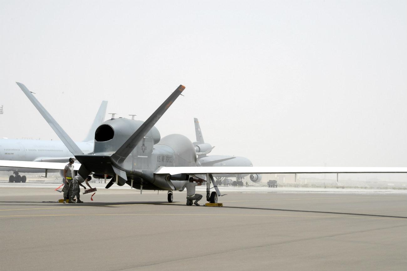 RQ-4 Aircraft tail