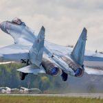 Sukhoi Su-35 taking off