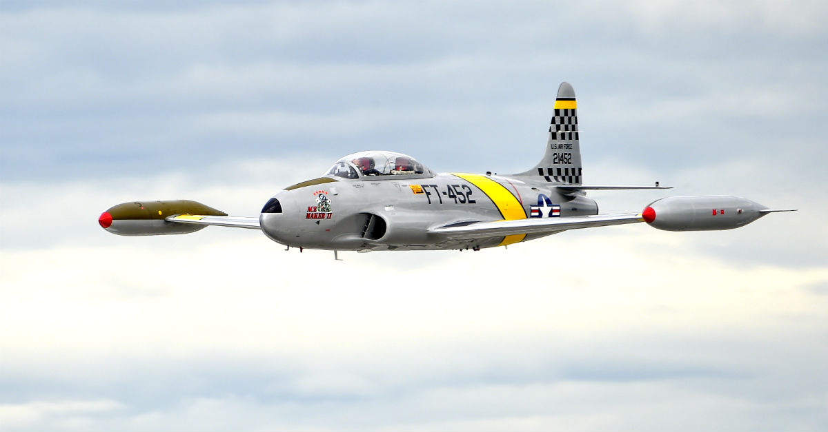 T-33 Shooting Star in Flight. Aircraft for sale.