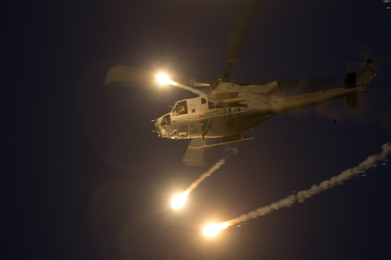 UH-1 Fires rounds night
