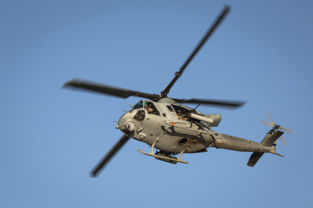 Bell UH-1 Images Helicopter in air