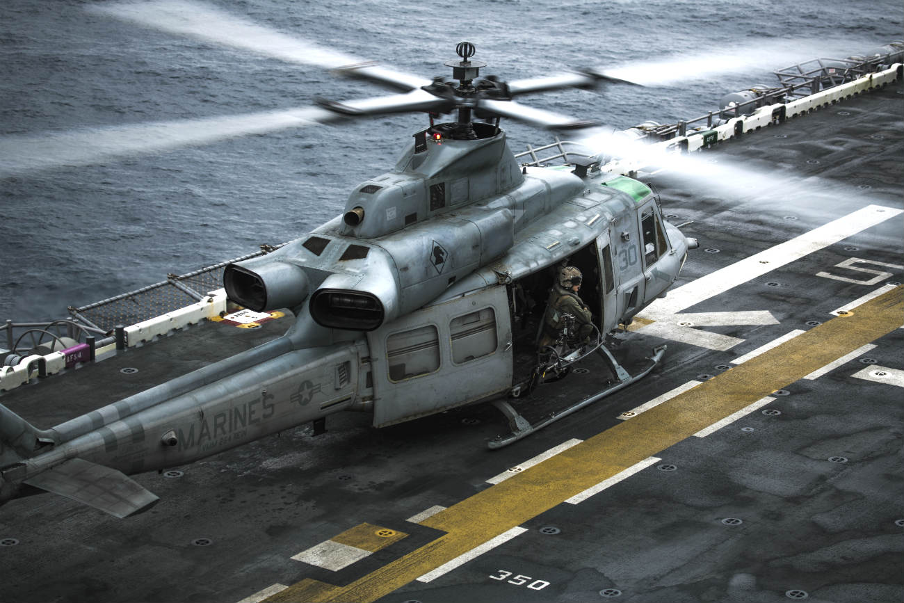 Bell UH-1 Images Huey Helicopter on Carrier