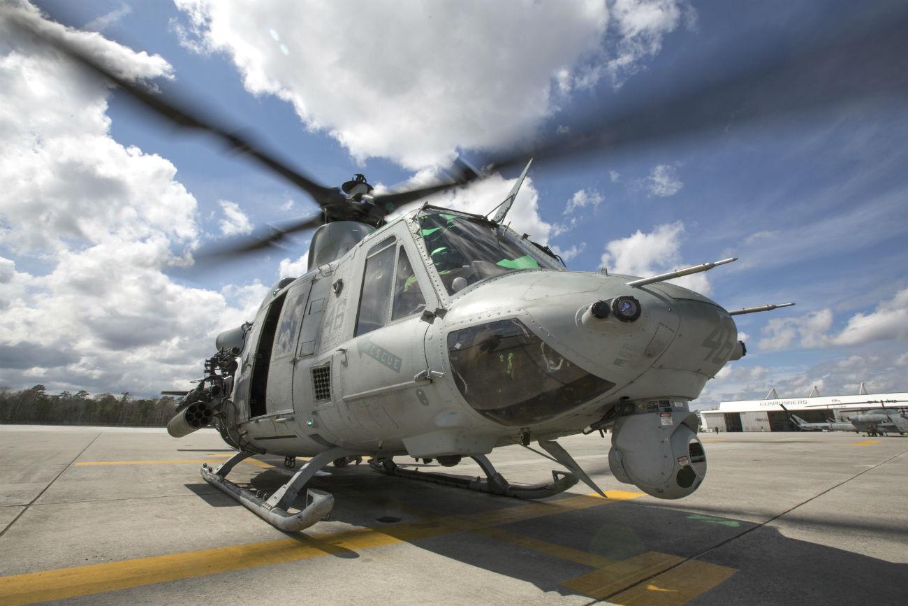 UH-1 Huey Parked