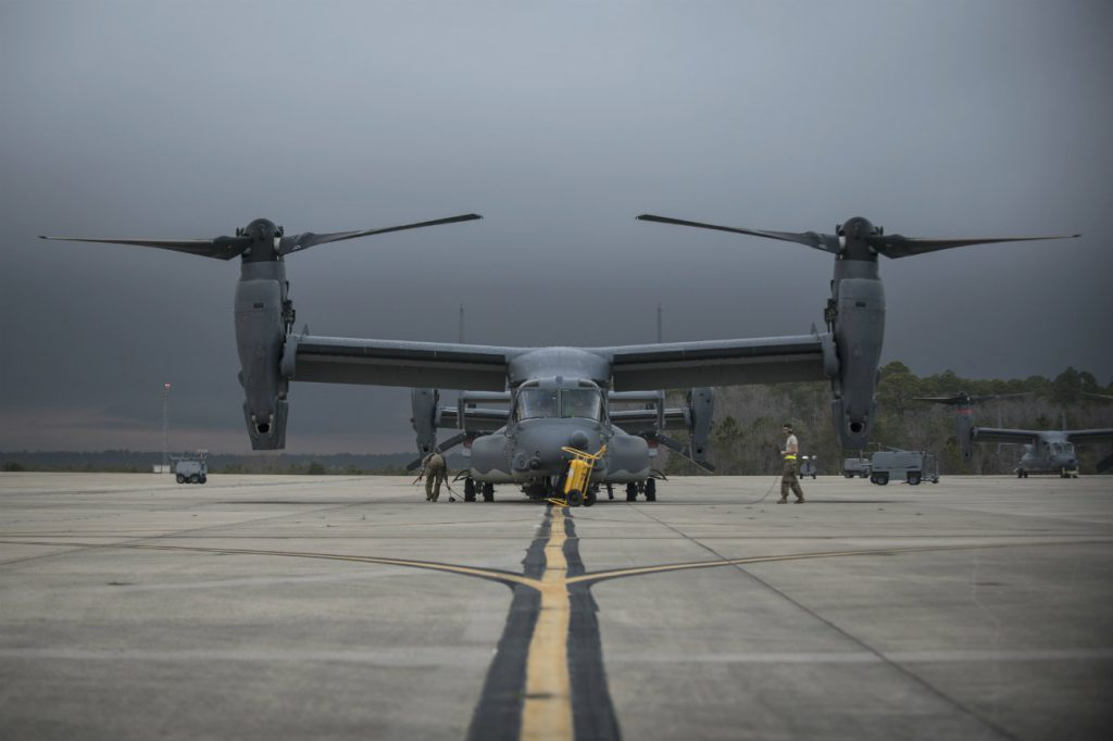 V-22 Osprey Parked V-22 Osprey Specifications