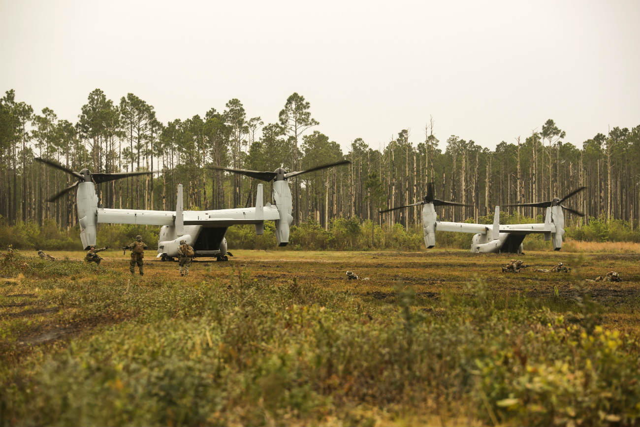 V-22 Osprey drop off