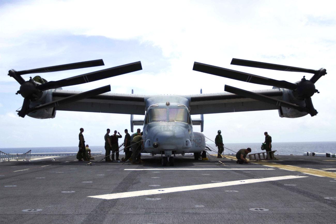 V-22 Osprey folded up