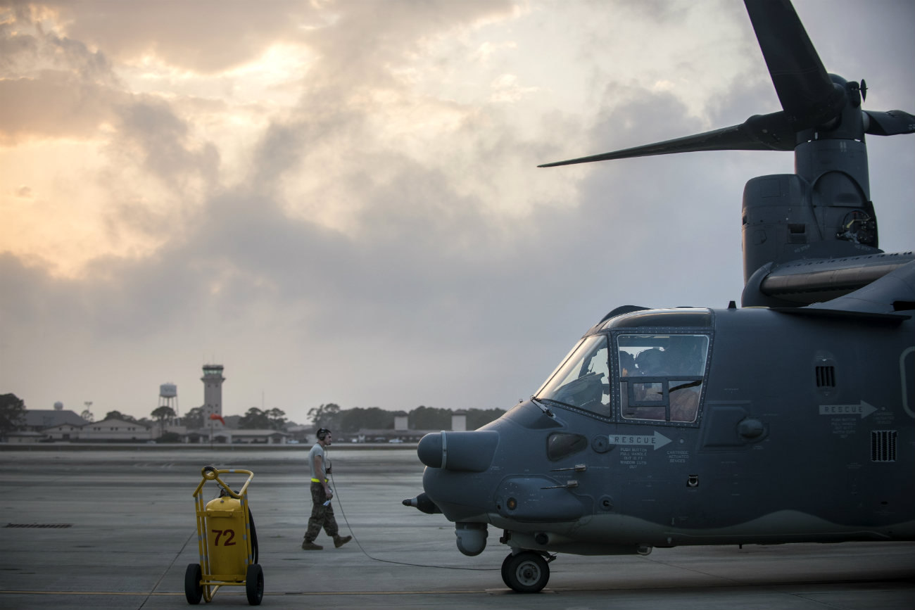 V-22 Osprey preflight checks