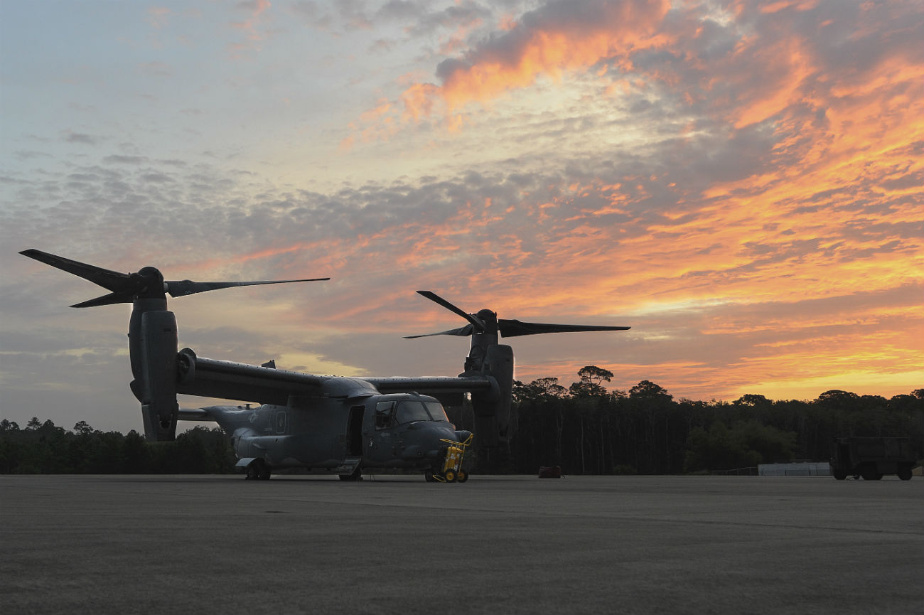V-22 Osprey Images sunrise