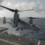 V-22 Osprey taking off Carrier