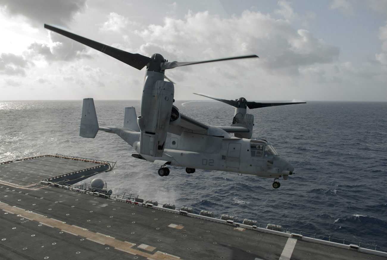V-22 Osprey Images taking off Carrier