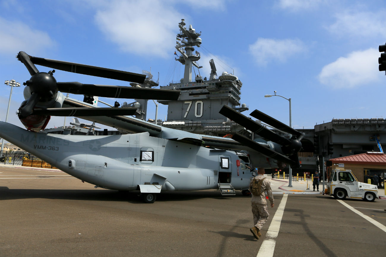 V-22 Osprey Images aircraft folded up