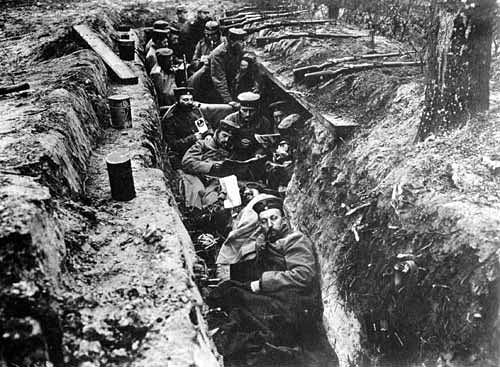 A German Trench of World War I