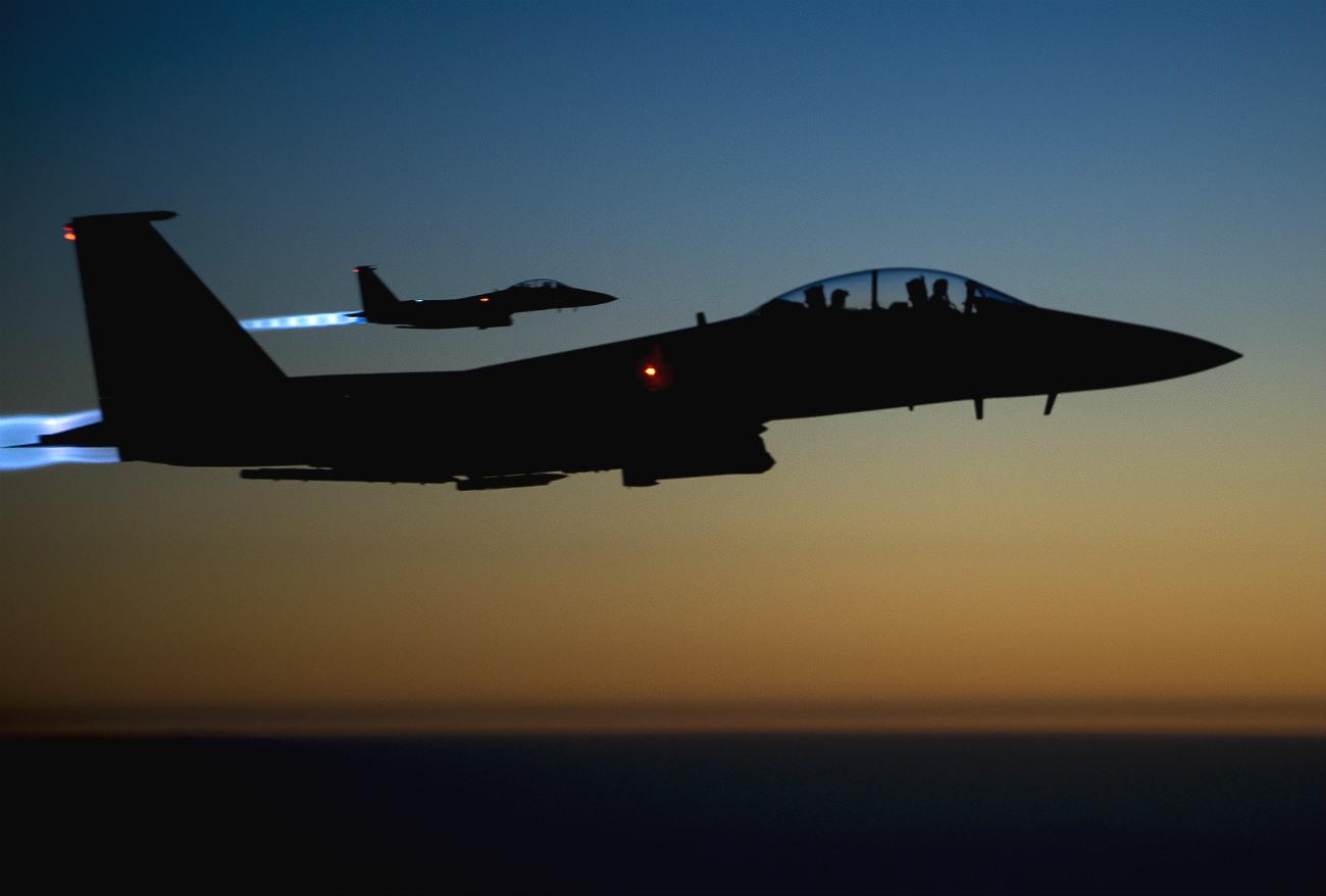 F-15 eagles sunrise