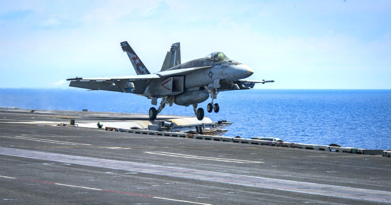 F-18 super hornet landing