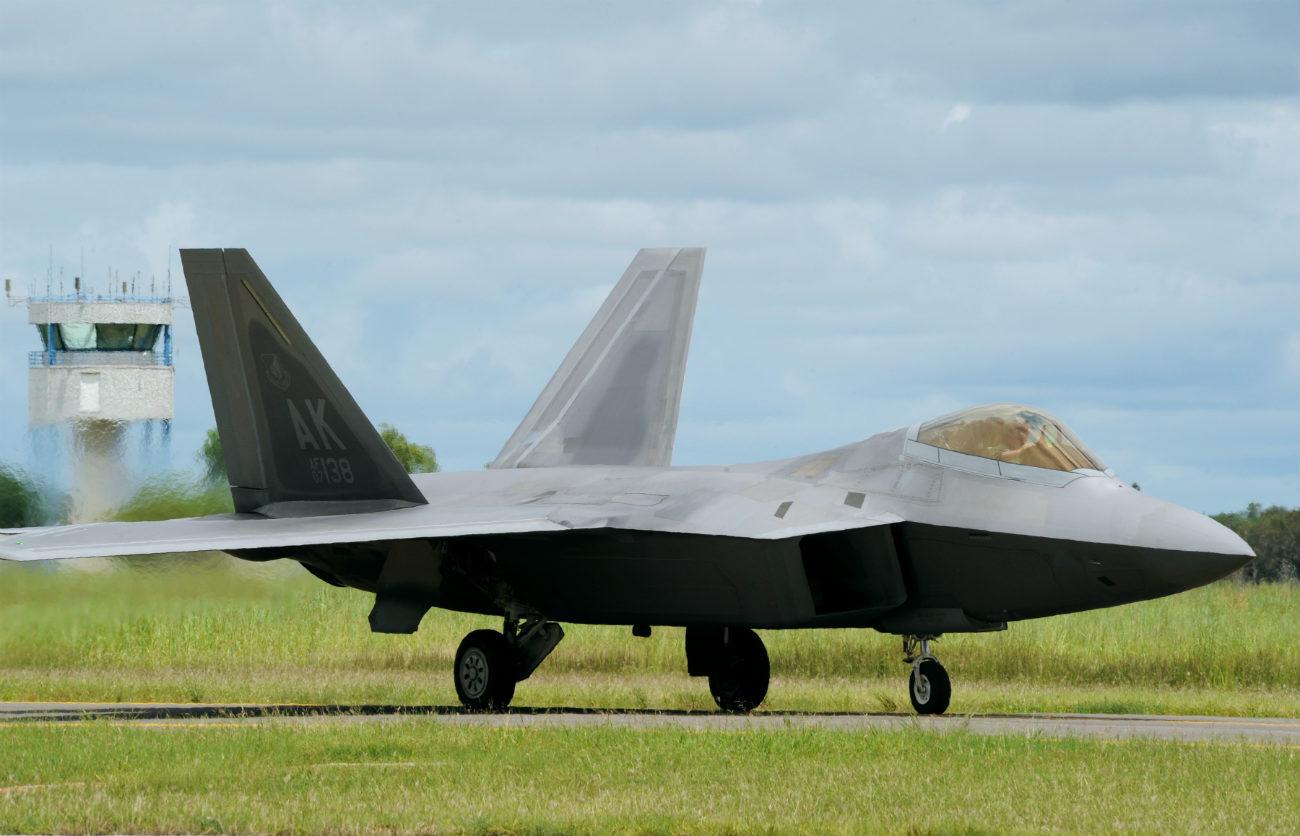 F-22 Raptor Parked US fighter jet images