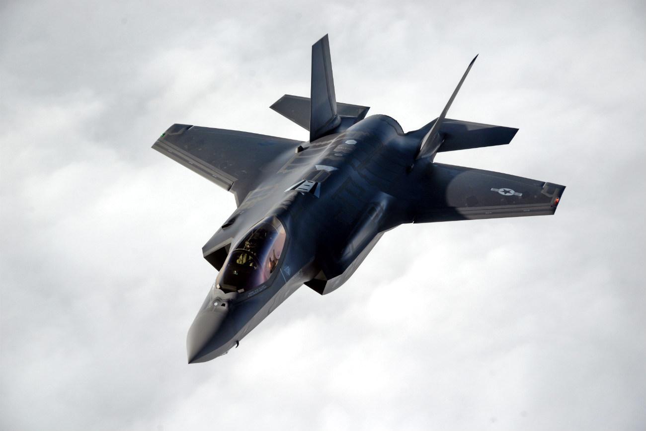F-35 in air