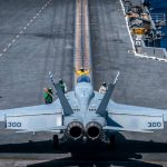 FA-18 Hornet take off on carrier