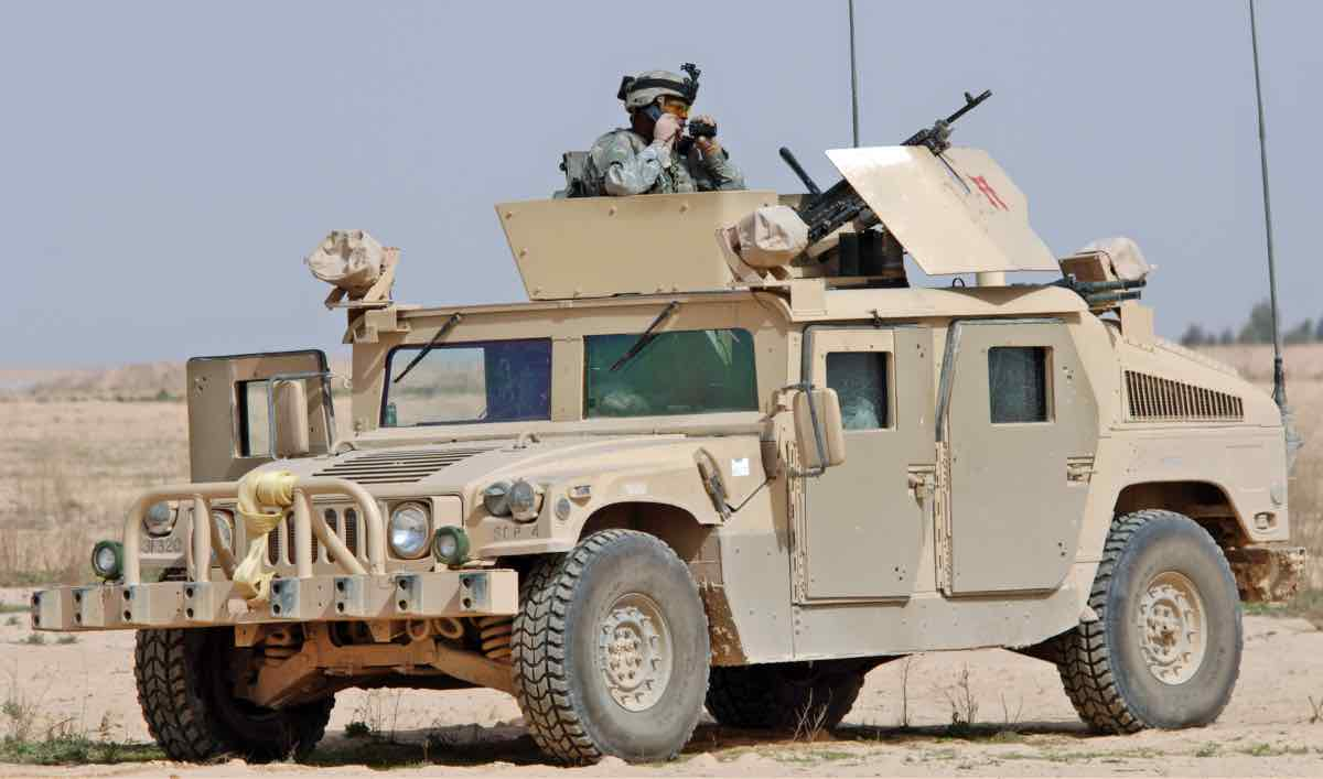 HUMVEE in the desert