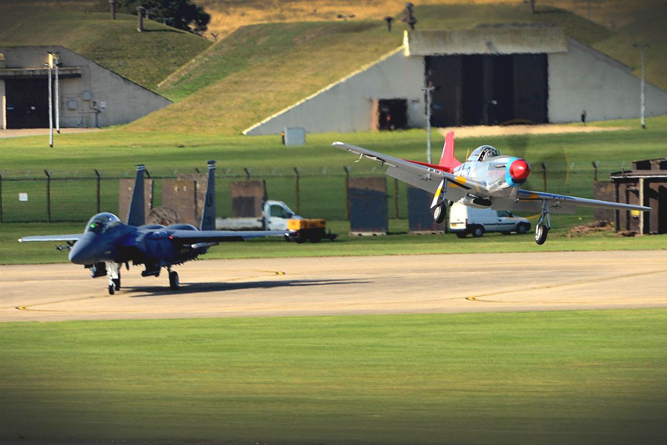 P-51 Mustang Flying Low