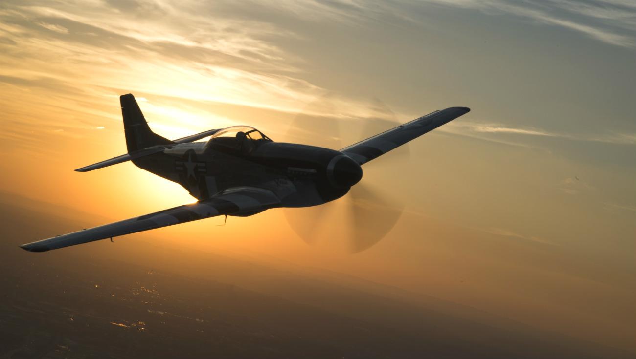 P-51 Mustang Sunset