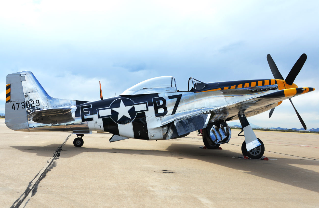 p-51 mustang parked
