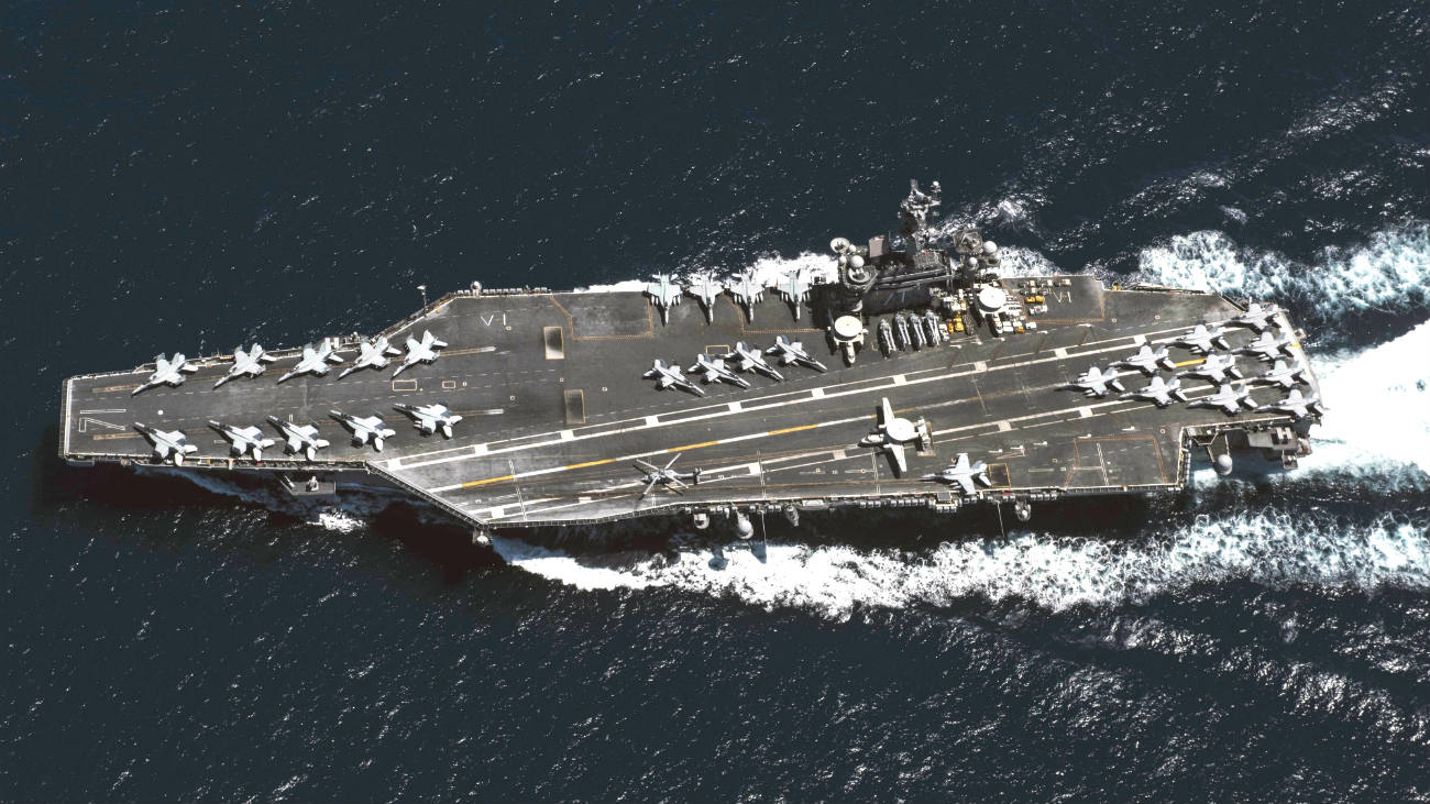Aerial USS roosevelt US Aircraft Carrier images