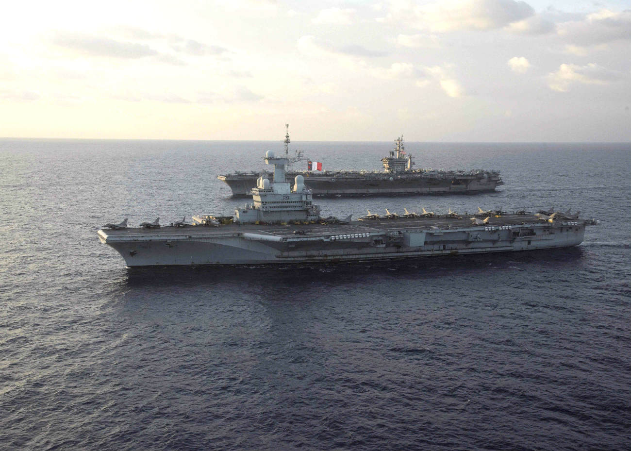 Aircraft carriers side by side US Aircraft Carrier images