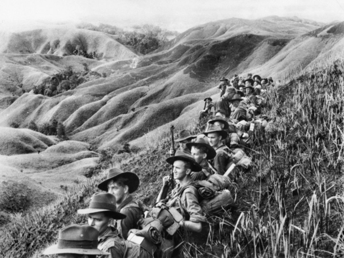 Australian Troops, New Guinea, World War II