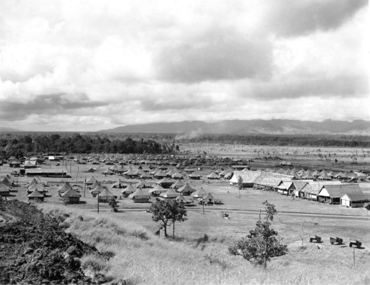 Australian Air Field New Guinea During WWII