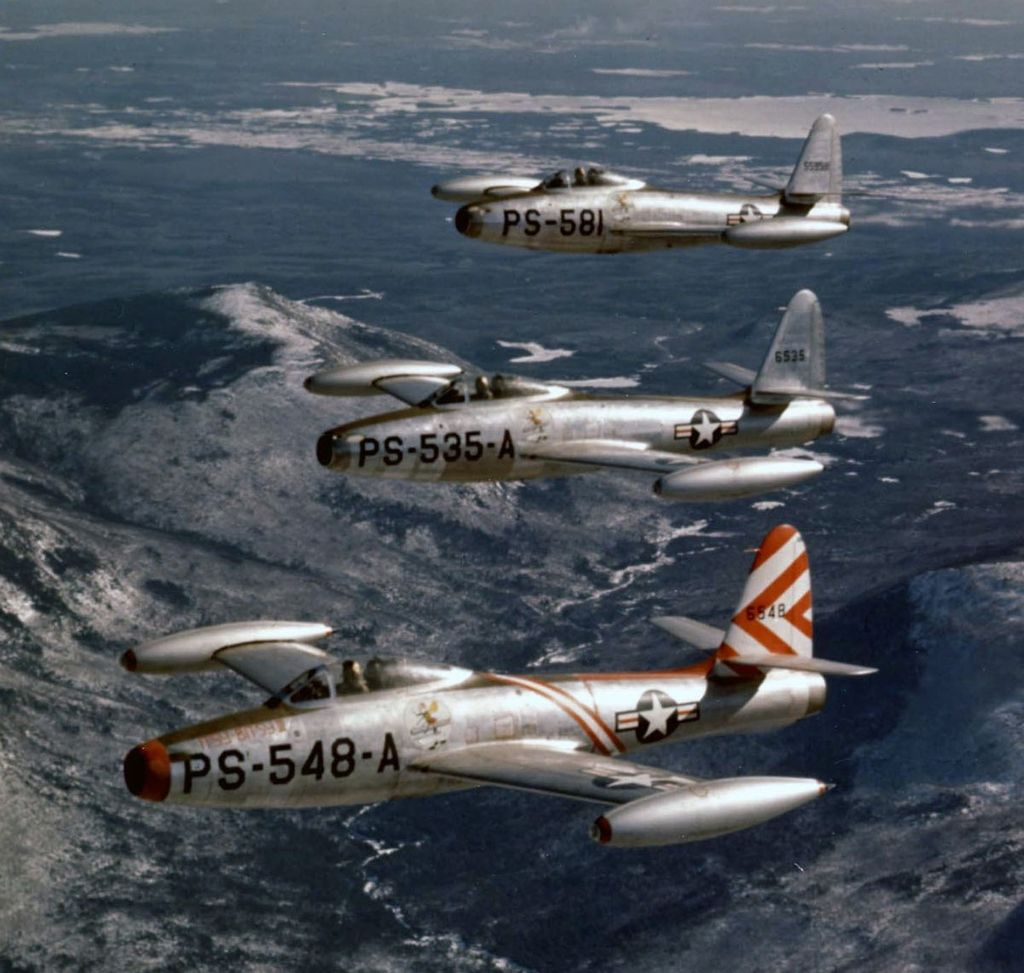 F-84 Thunderjets Over Korea During the Korean War