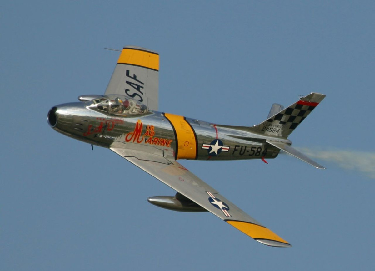 F-86 Sabre in Korean Era Livery