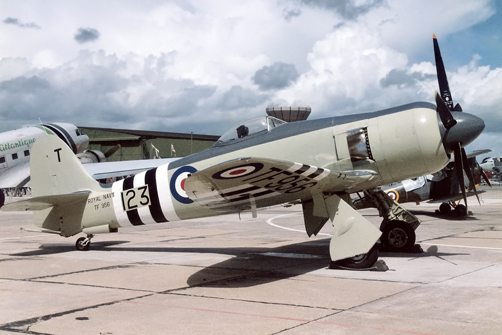 Hawker Sea Fury in Korean War LIvery