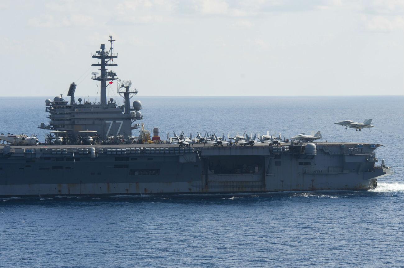 Landing on aircraft carrier